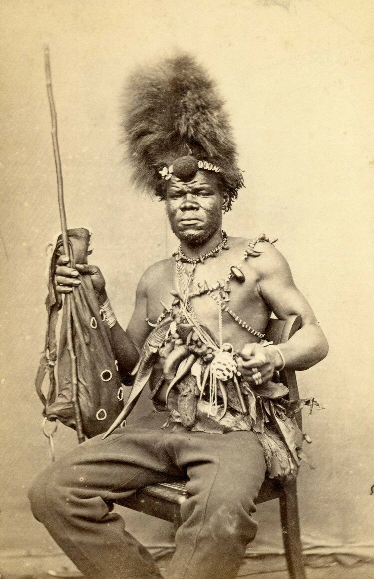 Колдун. Южная Африка, конец XIX века