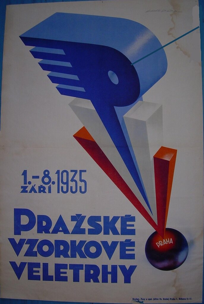 Tile:Plagát Pražského vzorkového veľtrhu, 1935Date:1935Description:Plagát farebný s vyobrazením štylizovaného loga veľtrhu - PVV, s nápisom: 1. - 8. ZÁŘÍ 1935. PRAŽSKÉ VZORKOVÉ VELETRHYSubject:Spoločenské vedy,ekonomika,výstavníctvo,veľtrhyCreator