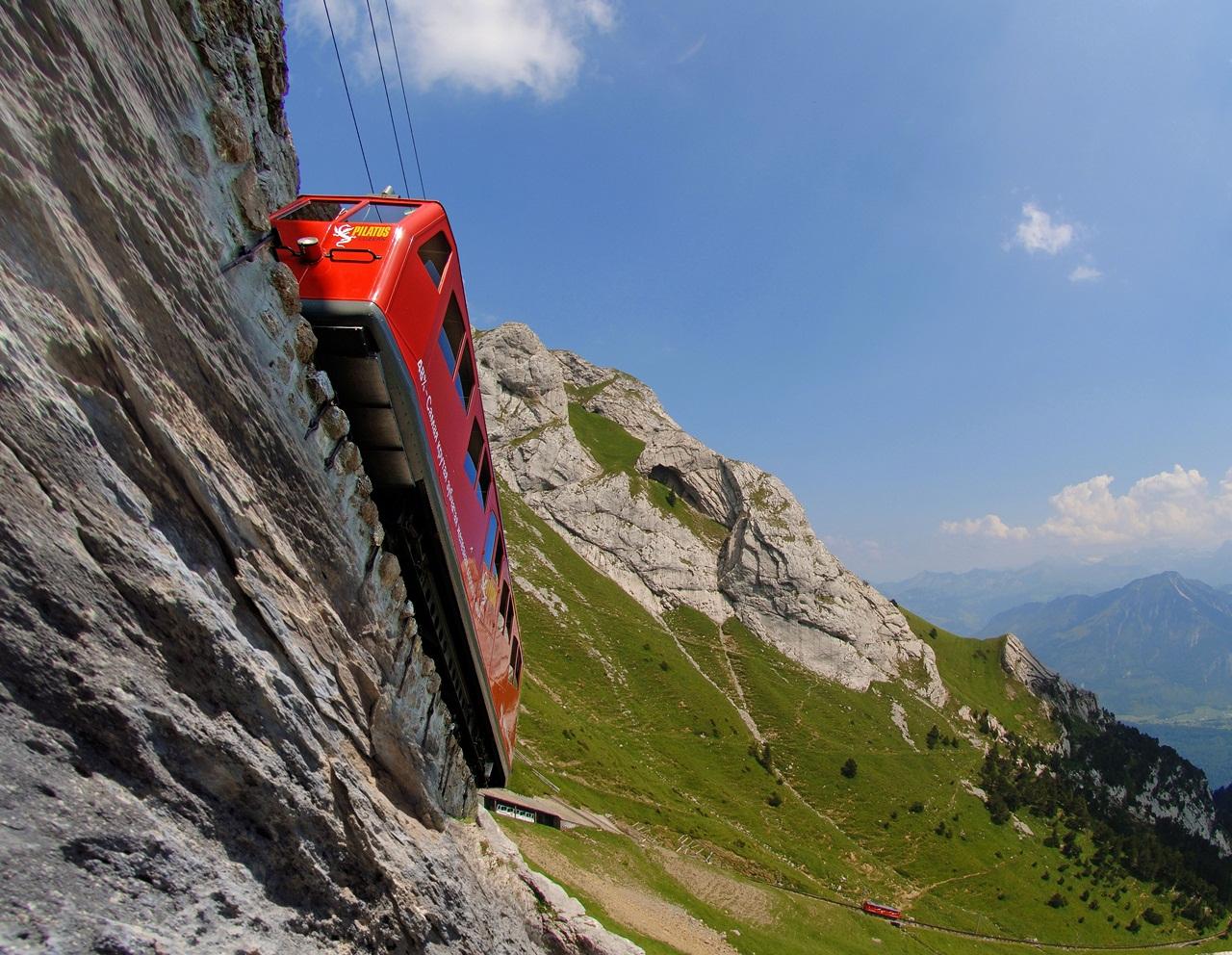 Pilatus-Bahnen: Steilste Zahnradbahn der Welt