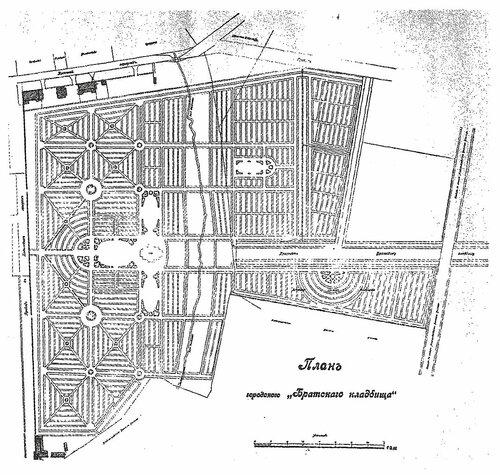 План Братского кладбища 1915 года