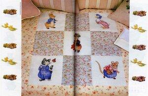 Одеяло из вышивки к