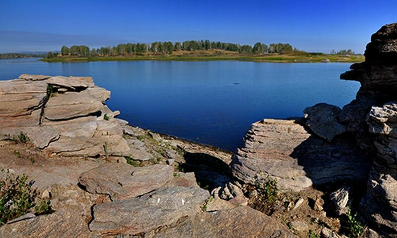 Берег реки возле деревни Харлуши (25.07.2013)
