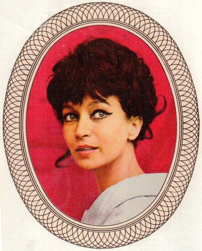 Переводная картинка из ГДР девушка Krystyna Mikolajewska 1973