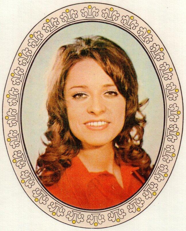 Переводная картинка из ГДР девушка Ingrid Raack 1973