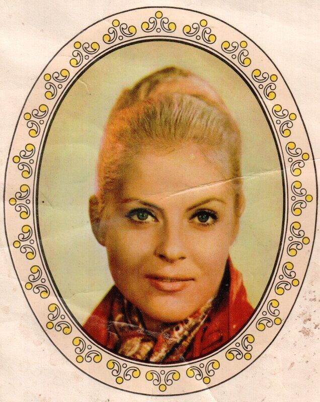 Переводная картинка из ГДР девушка Petra Luck 1977