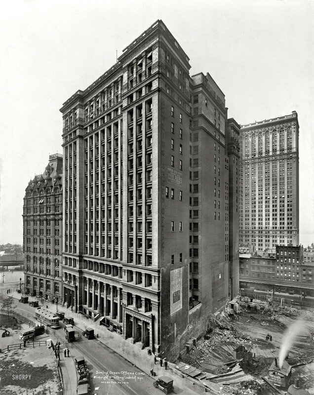 Sept. 20, 1919. Bowling Green Offices, New York