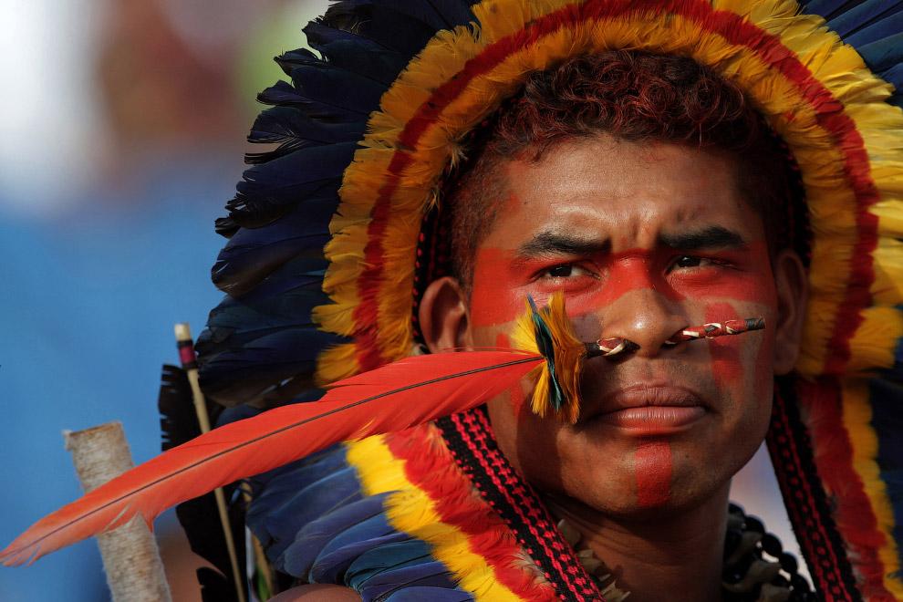 17. Всемирные Игры коренных народов, Палмас, Бразилия, 2015. Перетягивание каната. (Фото Eraldo Pere