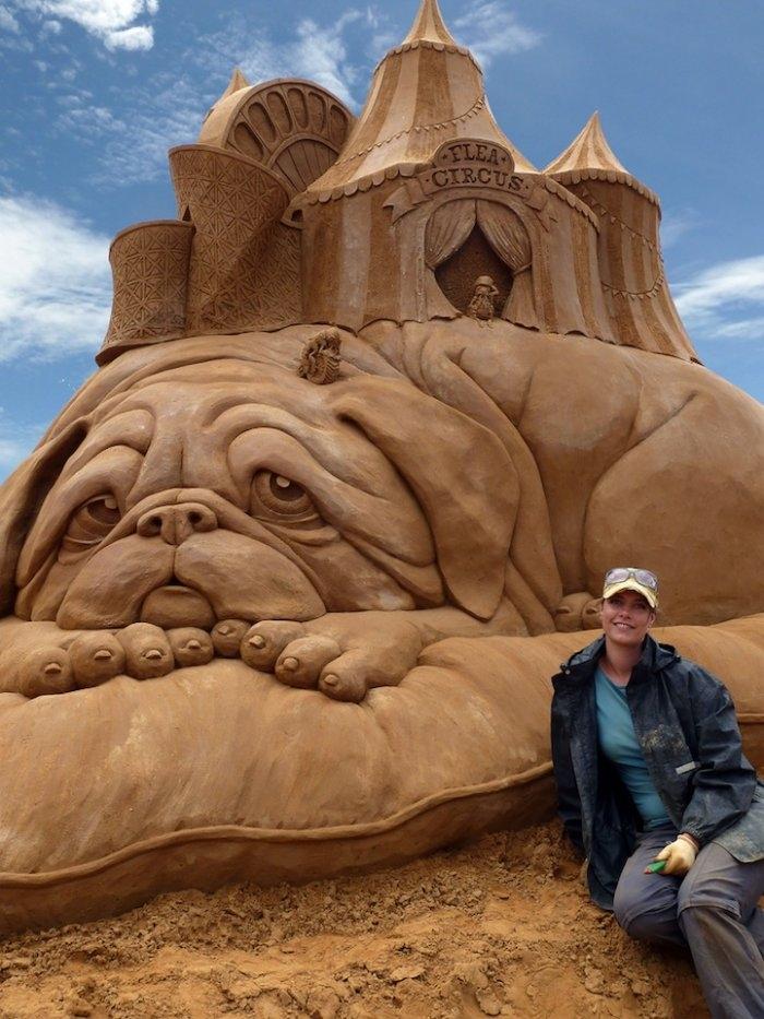 Скульптуры из песка Сюзанны Руселер (Susanne Ruseler)
