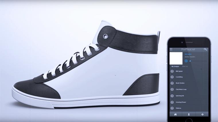 Кроссовки, которые меняют внешний вид при помощи смартфона