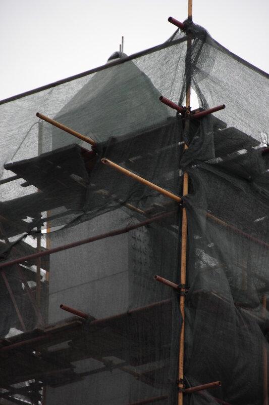 Монтаж обелиска в Александровском саду. 21.10.2013
