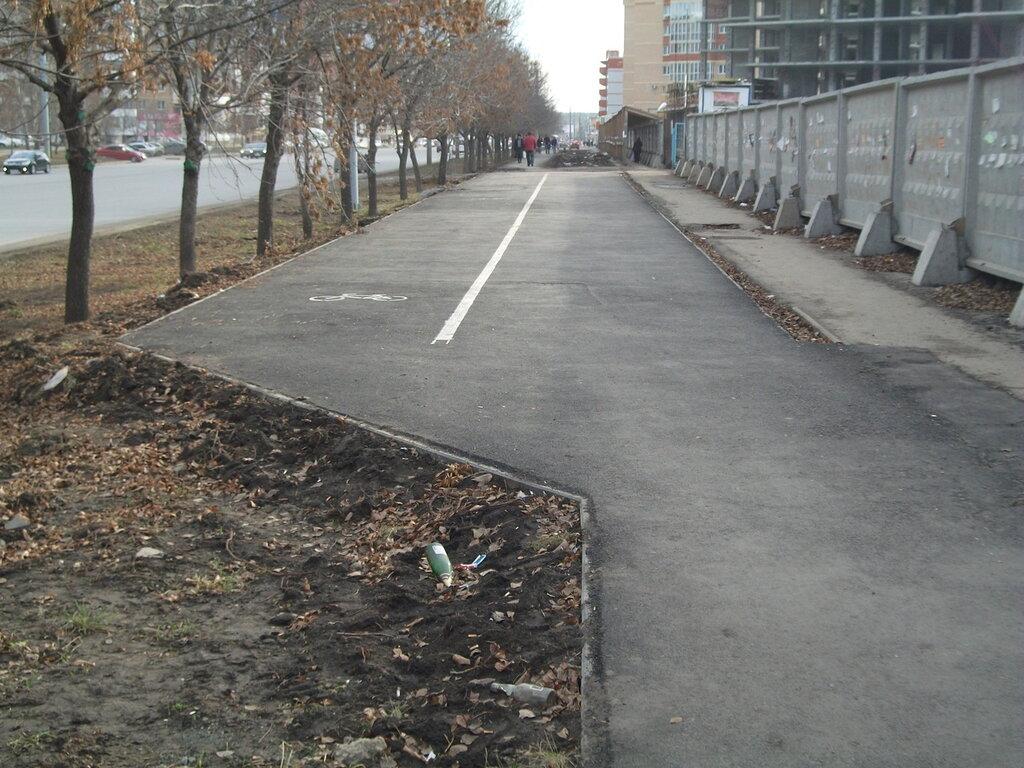 """""""Велодорожка"""" на Чичерина (09-11-2013)"""