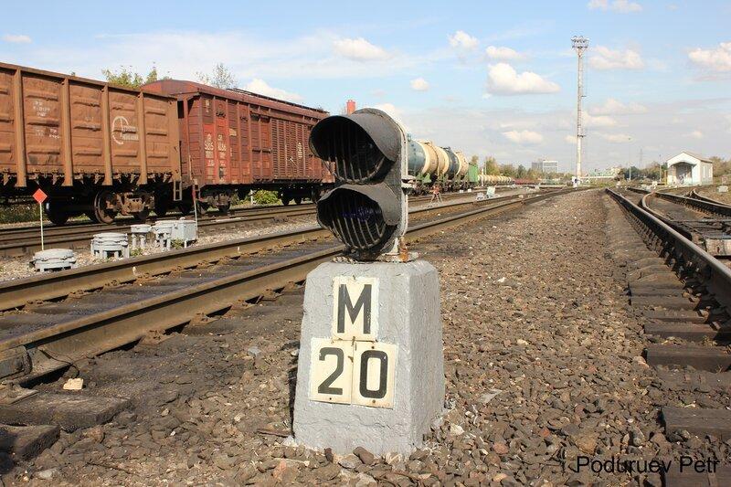 Маневровый светофор на станции Андроновка