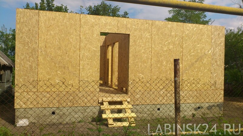 Стены каркасного дома из OSB