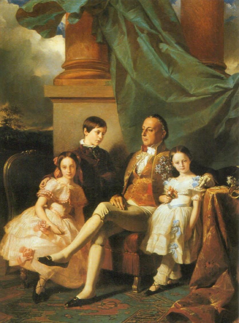 Il principe Vincenzo Ruffo ed i suoi figli
