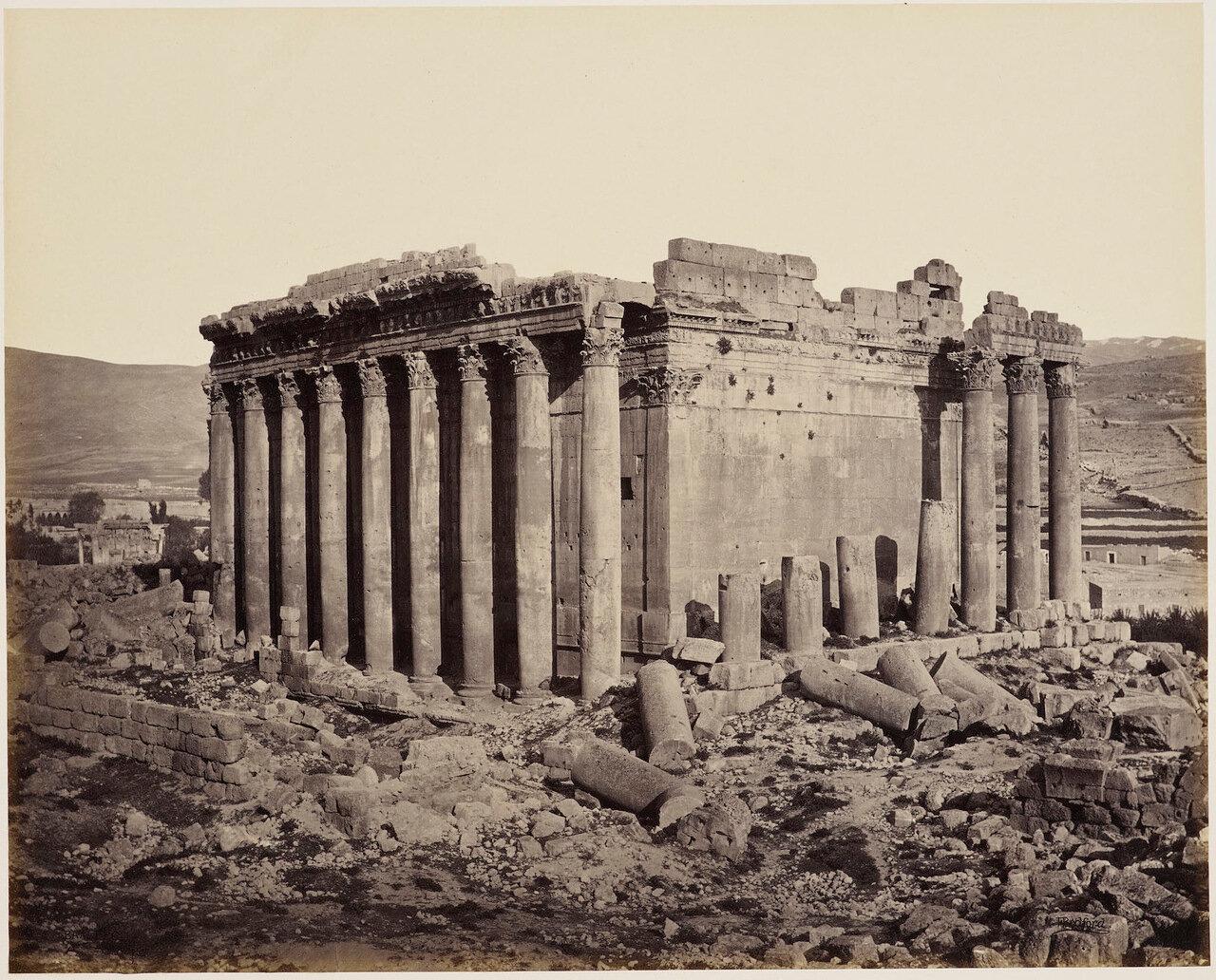 3 мая 1862. Храм Юпитера с северо-запада. Баальбек