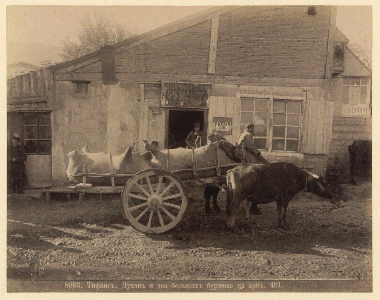 Духан и два бурдюка на арбе. 1890
