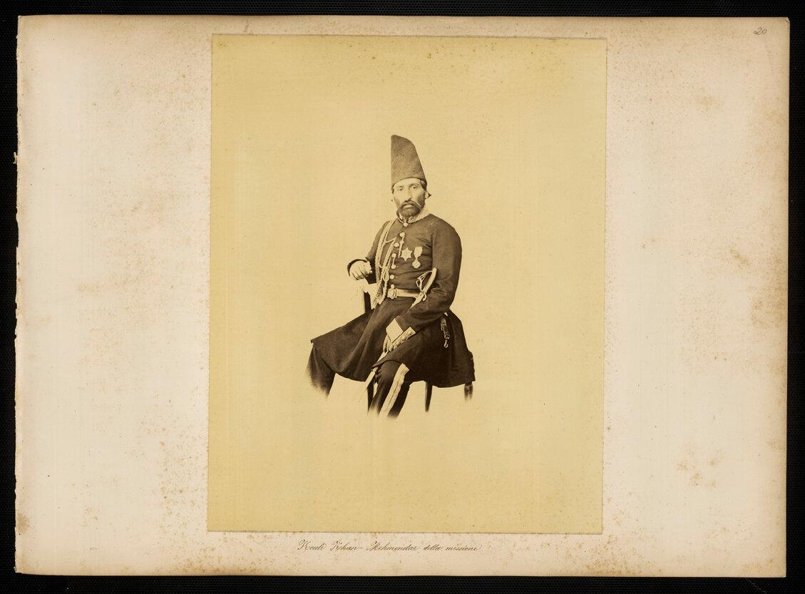 Персия. Коули Хан, представитель шаха при итальянской мисии
