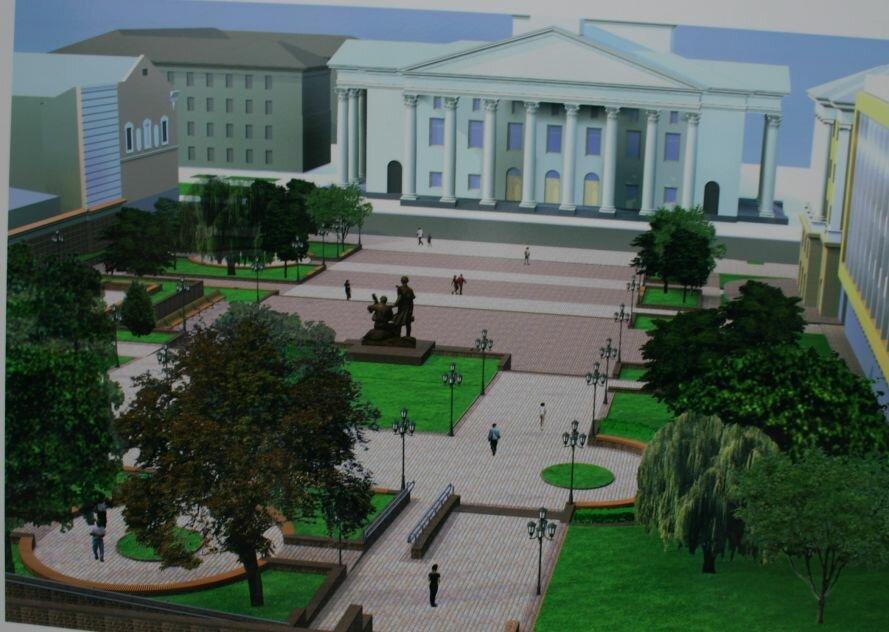 Запорожцам показали, как будет выглядеть «Радуга» и сквер перед театром им. Магара (ФОТО), фото-2