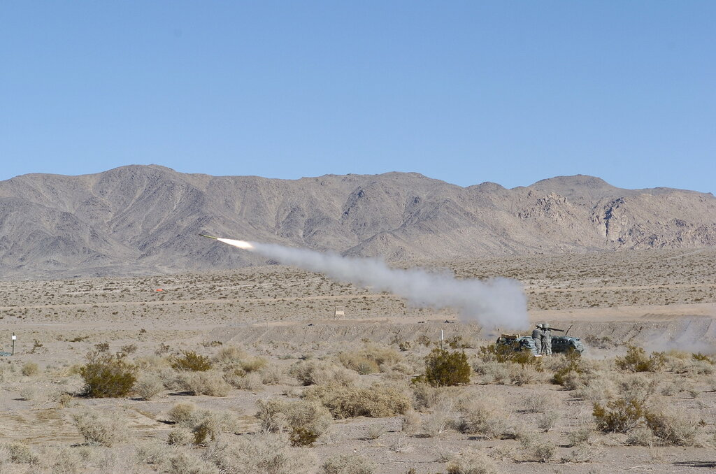 10 Dec 2008, India Btry, 1 Sqdrn, 11 ACR, NTC Fort Irwin Calif. Fire Stinger Missile System. (Photo by SGT David Alvarado,PAO.)