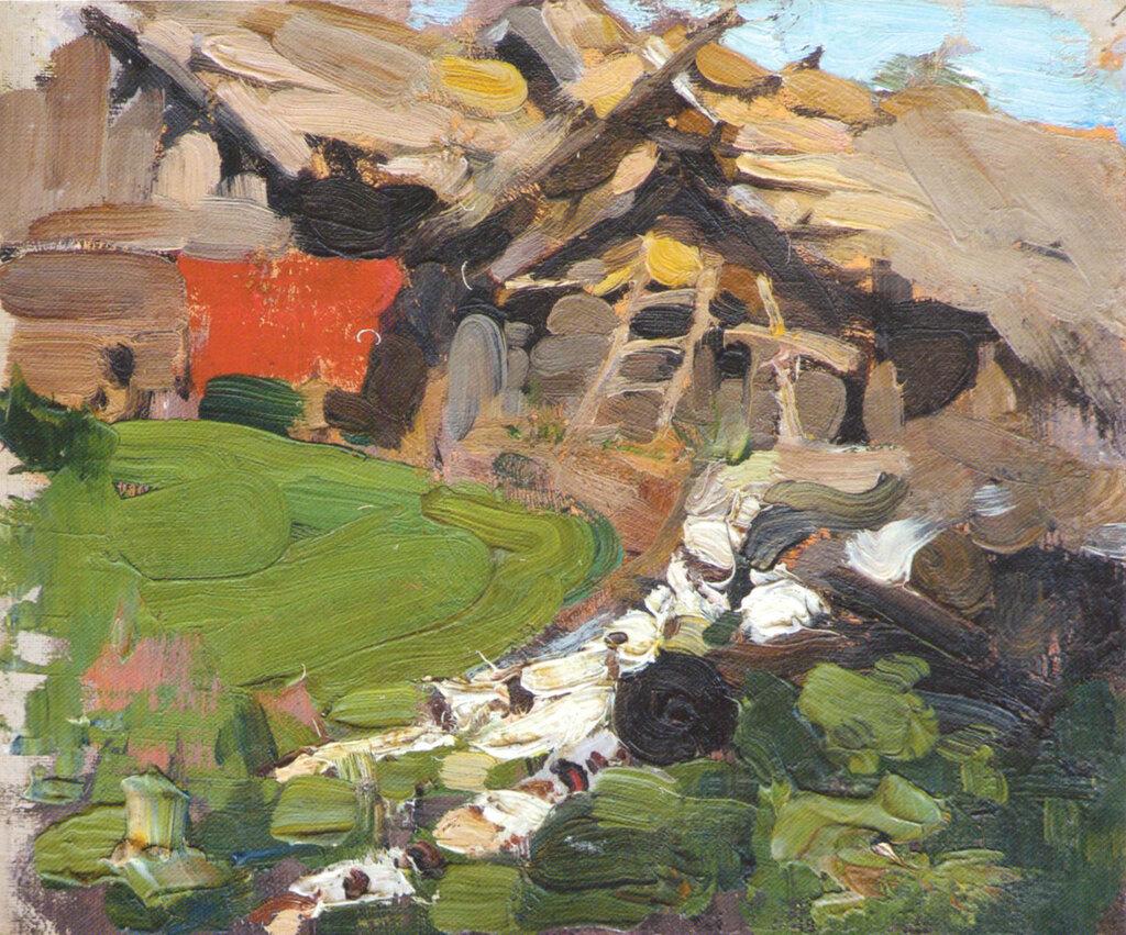 Сельский пейзаж. Этюд (1900-е) 2.jpg
