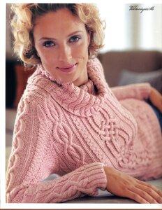 Нежные араны- свитер спицами от Rowan