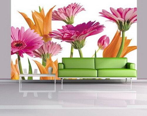 Яркие фотообои для живописного интерьера