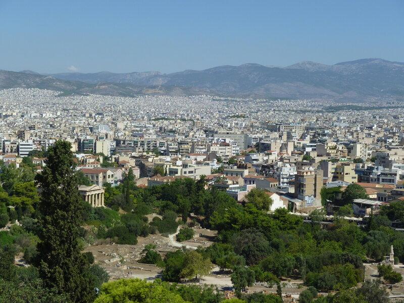 Вид на Агору с Ареопага