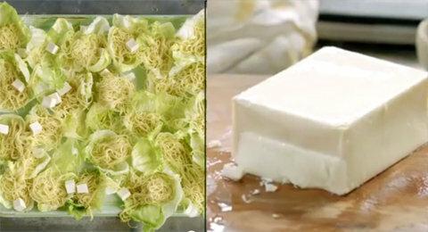 Добавить тофу к салату