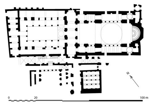 Церковь св. Ирины в Константинополе, план первого этажа