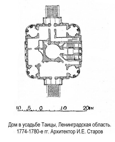 Дом в усадьбе Таицы, план