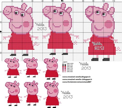 Peppa Pig - free crochet pattern | Schemi di animali all'uncinetto ... | 441x500