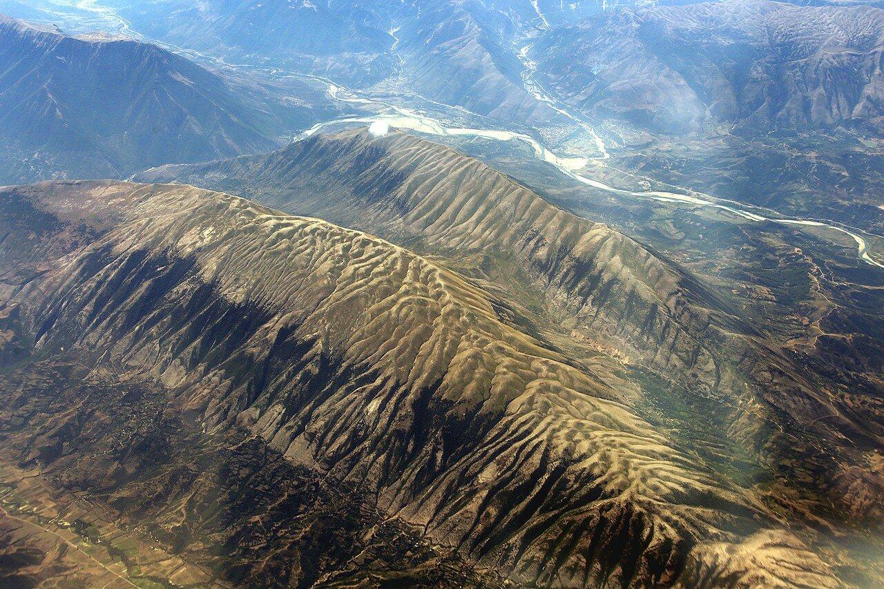 Греция, Горы Пинд (Пиндос). Вид с самолета