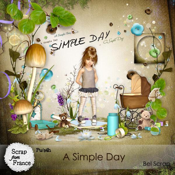скрап набор    A Simple Day