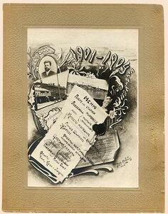 Меню обеда 11 января 1904 г. в честь О.И.Борцмейера.