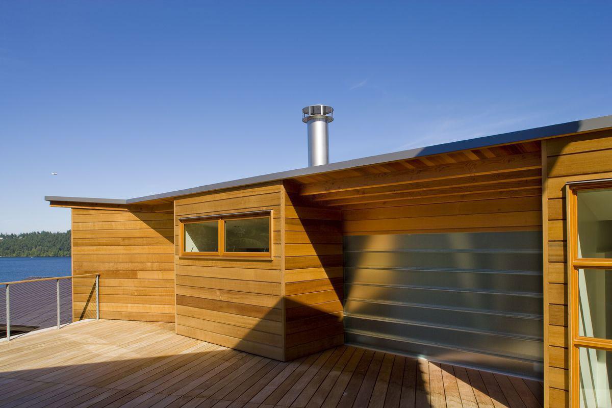 Cedar Park House, Peter Cohan, дом с видом на озеро, дом на берегу озера, деревянный фасад дома, дома в штате Вашингтон, частные дома в США