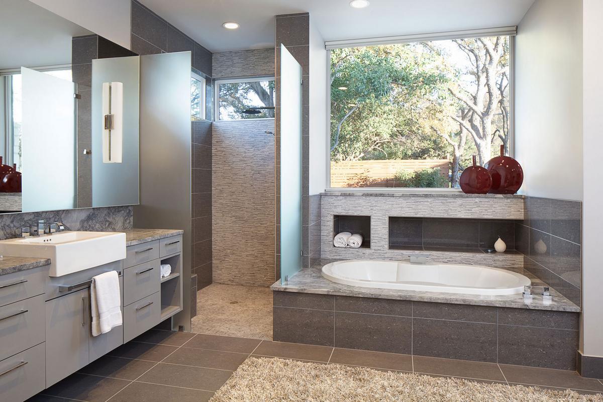 Ridgewood Residence, Cornerstone Architects, частный дом в Остине, геотермальная система отопления, дома Техаса, дома США, американский частный дом