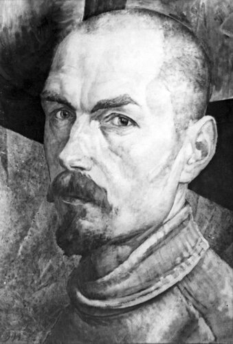 Кузьма Петров-Водкин. Автопортрет. 1918. Русский музей. Ленинград.