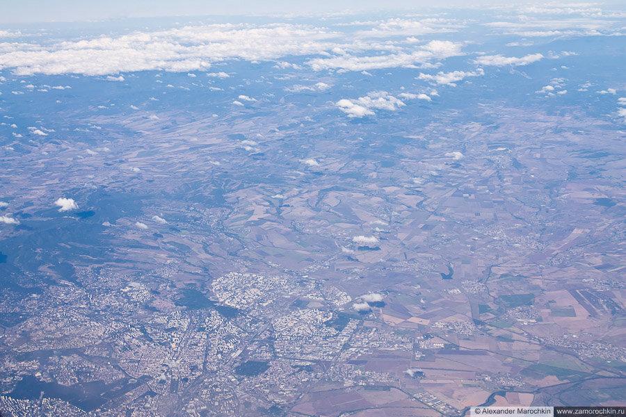 Столица Болгарии София с самолёта