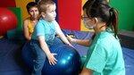 Развиваем равновесие на мяче