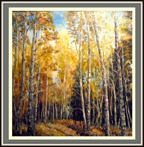 Золотая осень. холст, масло автор Людмила Лобанова 0_8f89a_923e5eba_L