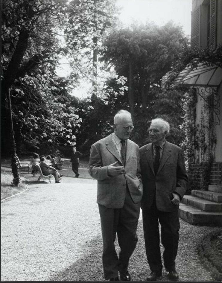 1960. Марк Шагал и Жульен Кейн в Лувесьене