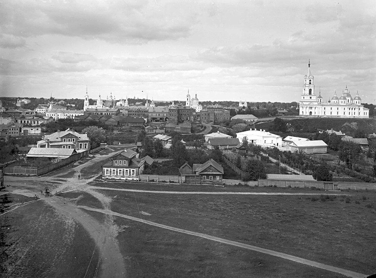 Общий вид города Кашина. 1894 г. г. Кашин, Тверская губерния