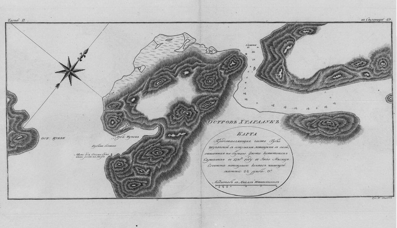 31. Карта представляющая часть губы Шучачской с островами лежащими в оной
