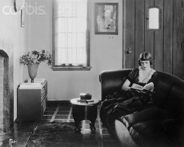 Natacha Rambova Reading at Home