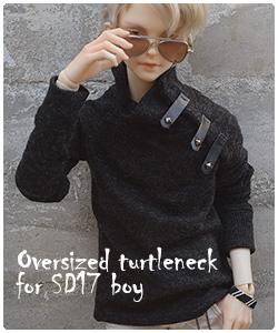 Oversized turtleneck for SD BJD