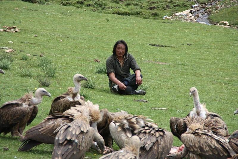 Небесное погребение в Тибете