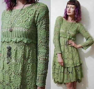 Платье крючком в стиле бохо