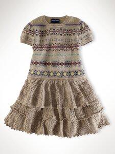 Ассорти из оборок - платья от RL спицами