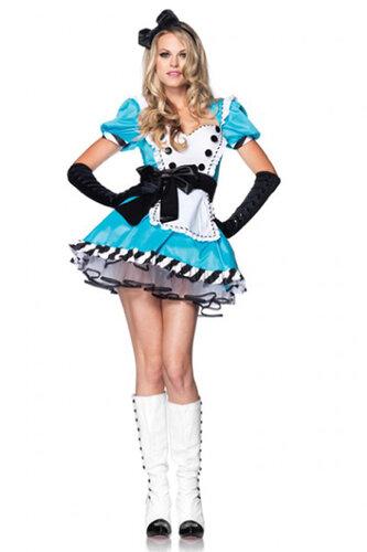 Женский карнавальный костюм Алиса в Зазеркалье