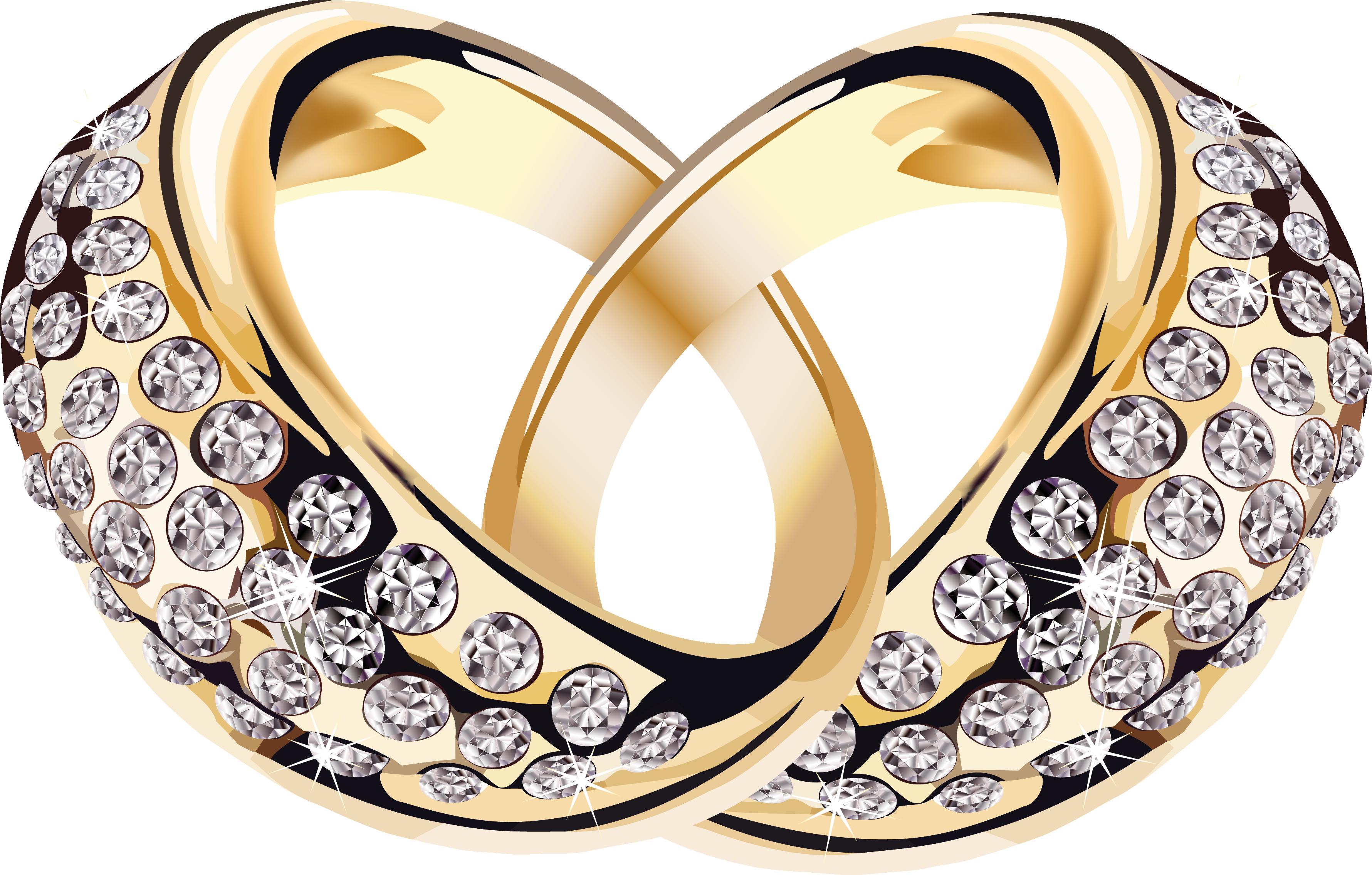 Клипарт свадебные кольца